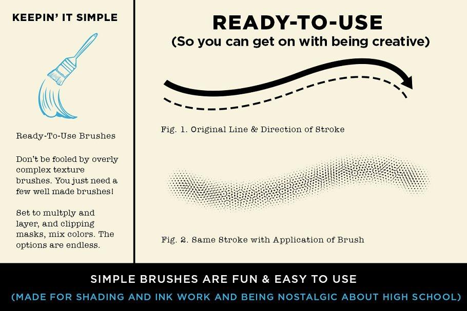 怀旧涂鸦笔刷下载 Irvington High Vector Brushes设计素材模板