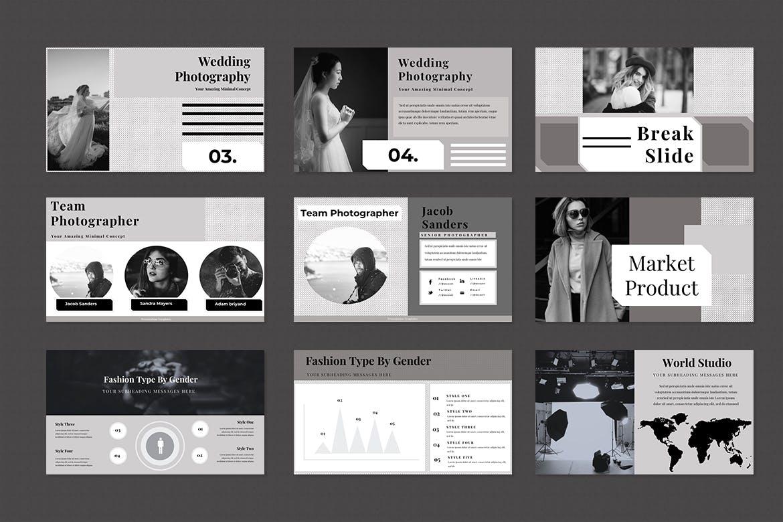 时尚高端专业投资powerpoint幻灯片演示模板(pptx)设计素材模板