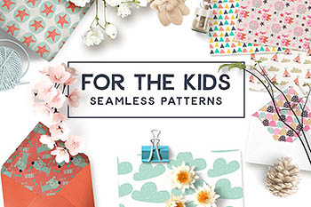无缝儿童图案纹理 For the Kids Seamless Patterns