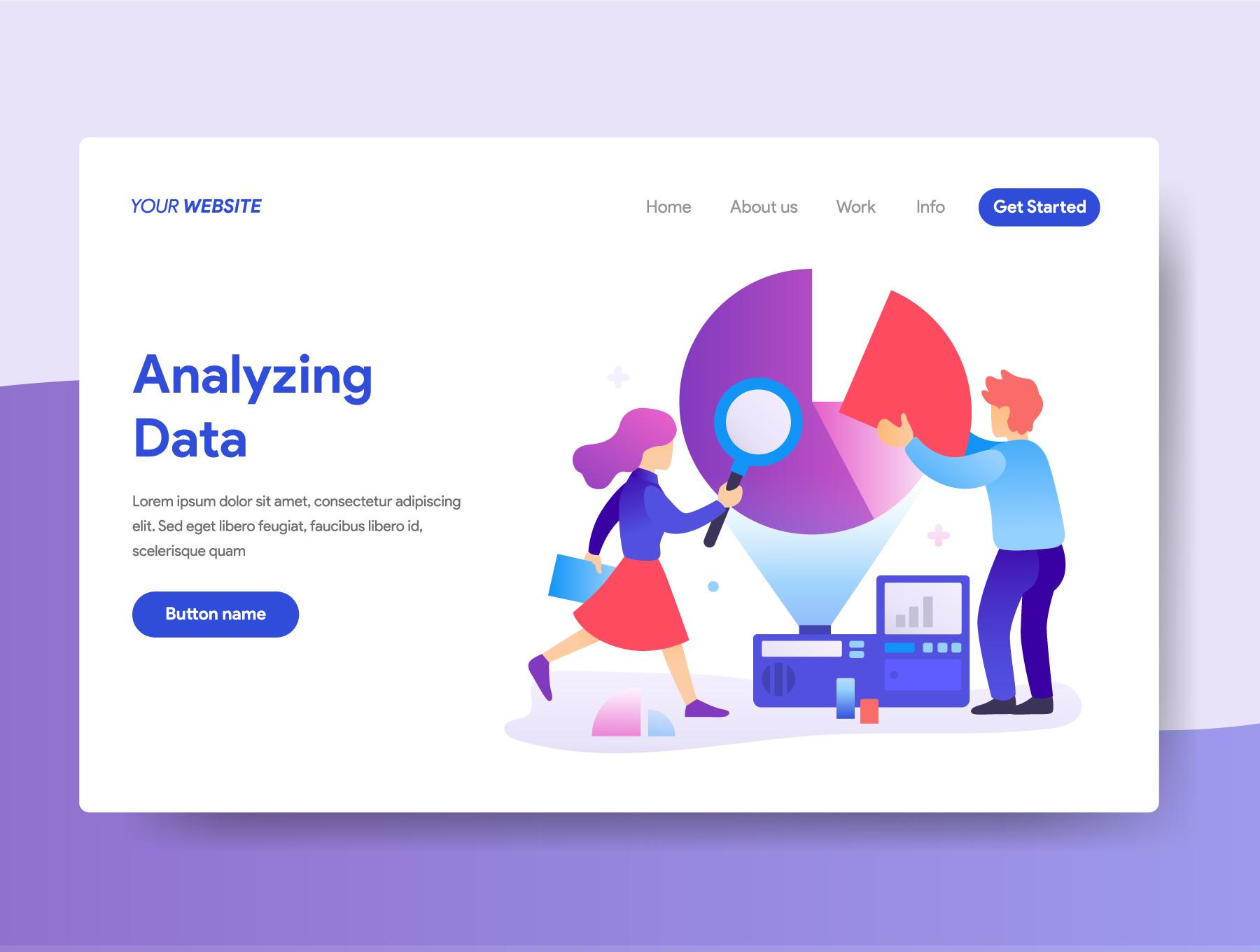 数据统计用户研究相关插画素材下载[Ai]设计素材模板