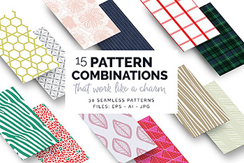 几何联合背景纹理 15 Great Pattern Combinations