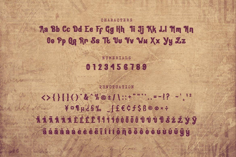 复古印刷排版风格英文衬线字体 Oracle – Authentic Vintage Inline Font设计素材模板