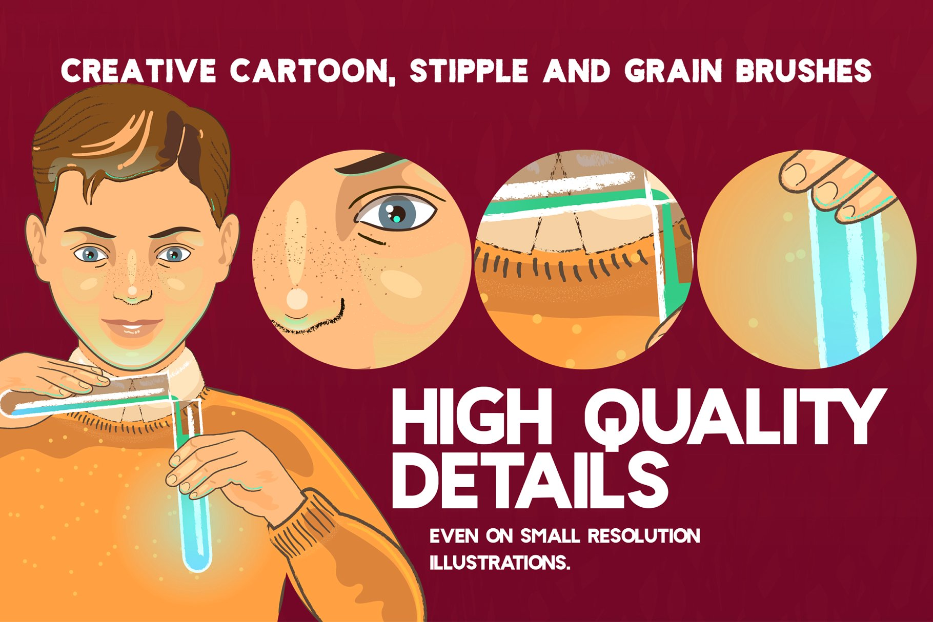 特别的Ai笔刷 CHEMIST Illustrator Brushes设计素材模板
