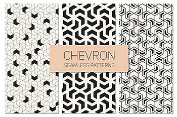 几何无缝背景 Chevron Seamless Patterns Set 2