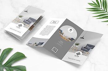 画册家具居家产品设计折页模板 三折页 企业产品宣传册设计[indd]