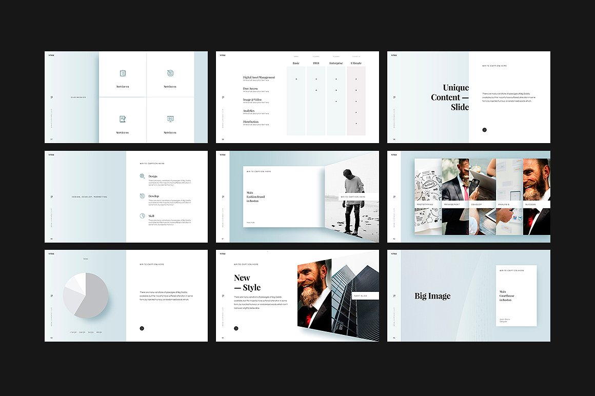 时尚简约ppt素材模板 STYLE Keynote Template设计素材模板