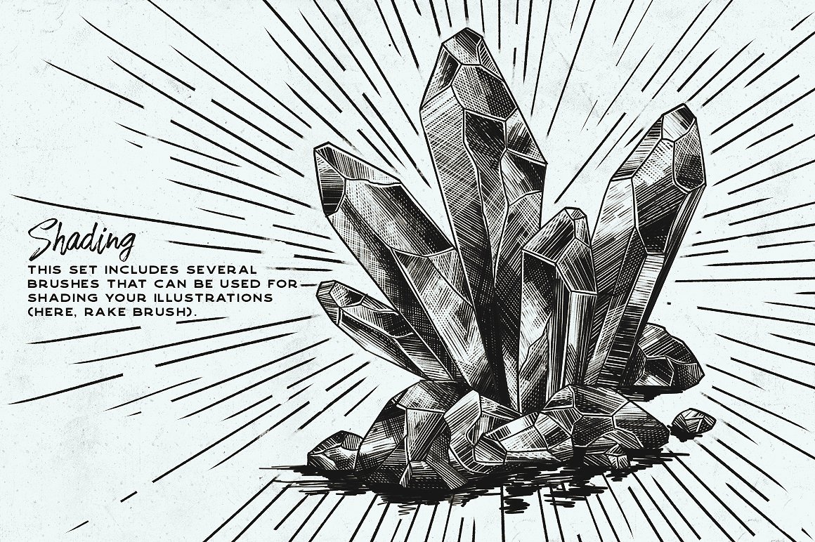 iPad 笔刷 墨水笔刷集 Procreate Inking brushes – set of 20设计素材模板