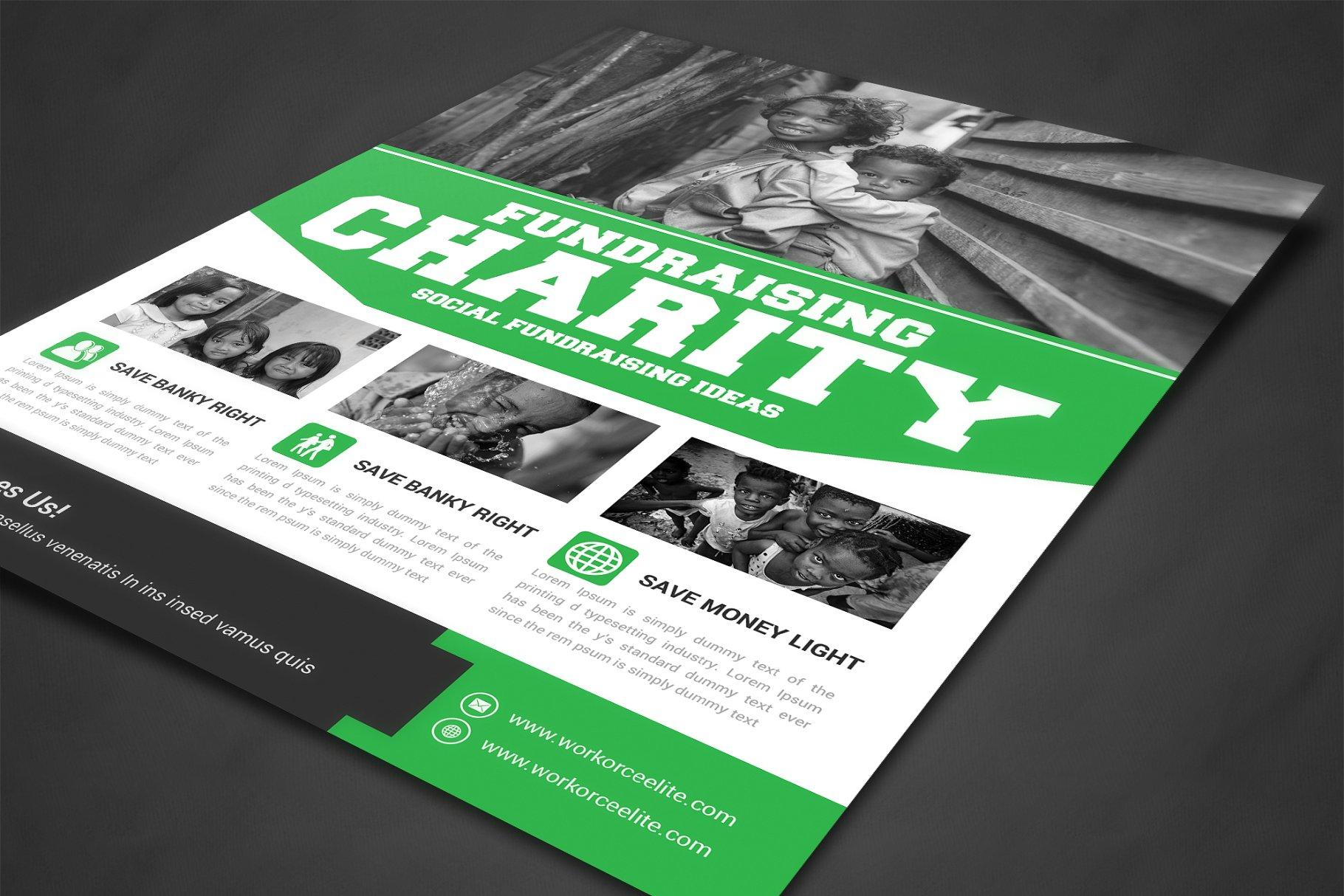 筹款慈善活动传单海报模板 Charity Fundraisers Flyer Templates设计素材模板