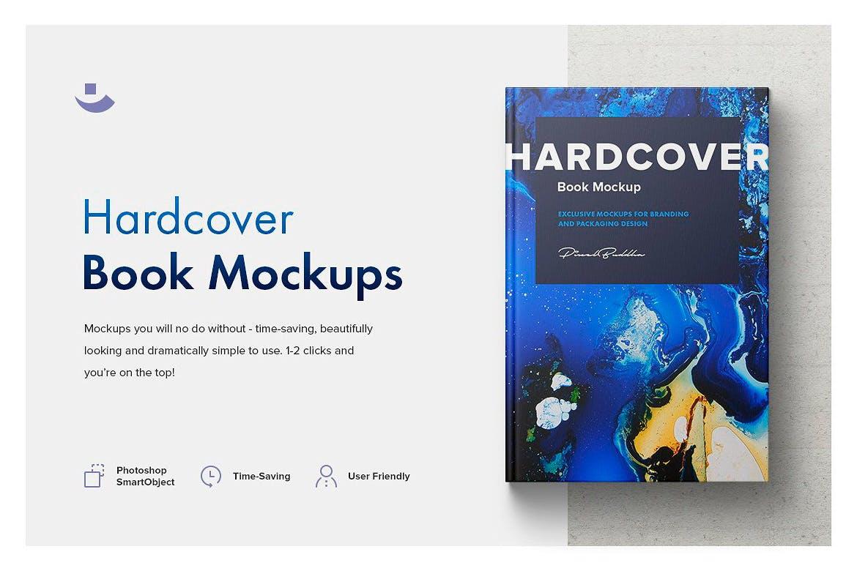时尚高端精装书籍装帧楼书画册手册杂志VI样机展示模型mockups设计素材模板