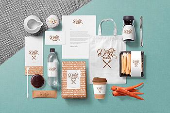 包装样机时尚高端优雅的咖啡主题设计品牌标识LOGO标志设计样机场景VI样机展示模型mockups