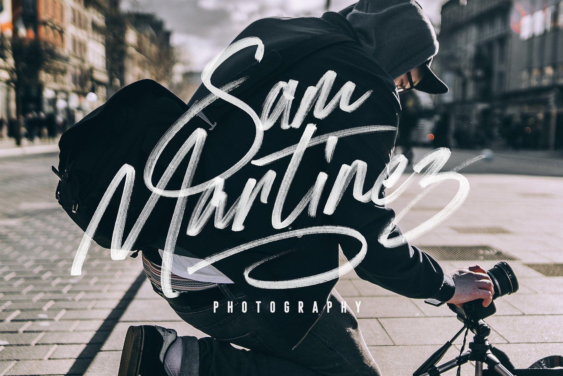 手写草书字体下载 Stay Dreaming SVG Font设计素材模板
