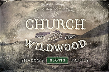手写字体复古 Church in the Wildwood Shadows