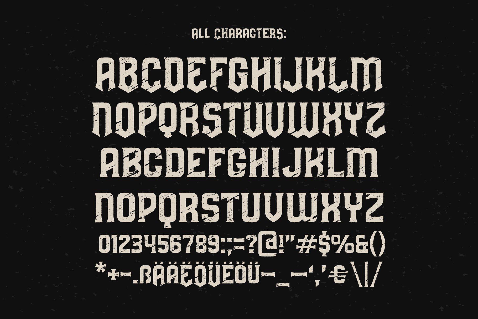 复古字体设计 Predators Cuspid font设计素材模板