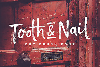 手写笔刷字体 Tooth & Nail Dry Brush Font