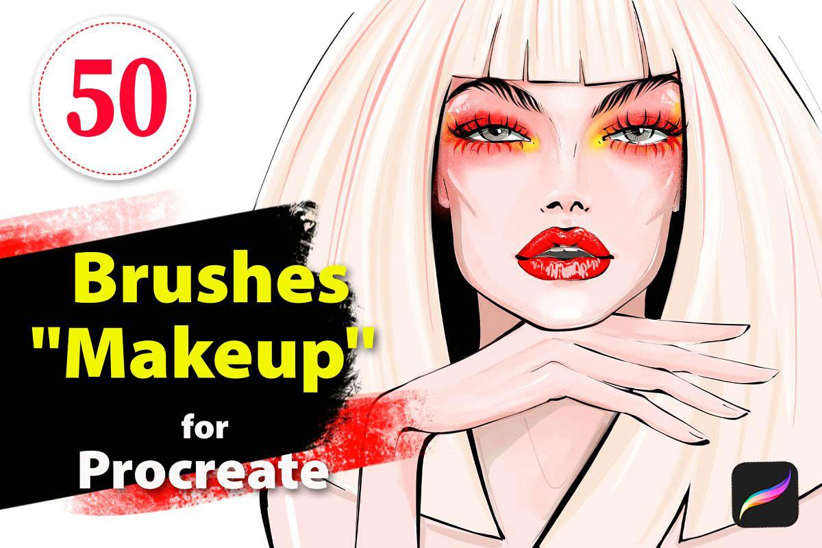 iPad Pro Procreate专用原画插画人物绘画化妆专用笔刷笔刷下载笔触下载[BRUSH]