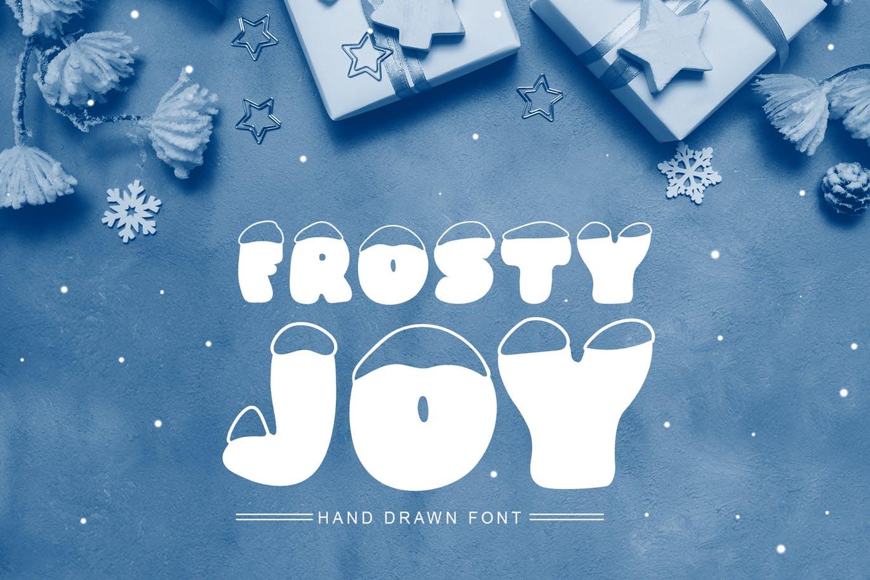斯堪的纳维亚风格可爱积雪字体 Frosty Joy Hand Drawn Display Font设计素材模板