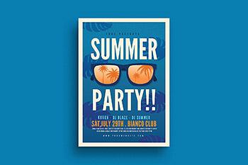 海报设计夏季度假 Summer Party Flyer