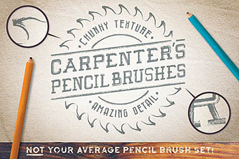 木匠的铅笔刷 Carpenter's Pencil Brushes