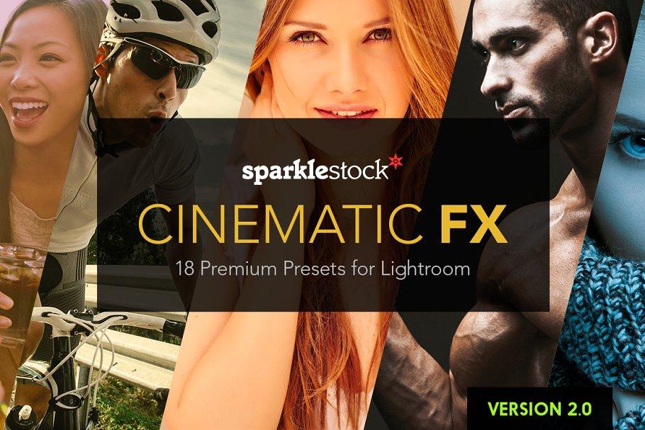18个电影级LR预设 18 Cinematic Lightroom Presets设计素材模板