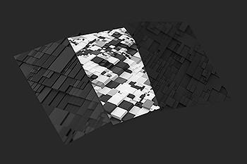 抽象三维绘制城市Greeble背景图素材 Abstract 3D Rendering Of Greeble
