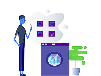 智慧设备物联网概念使用场景插画V3[Ai]