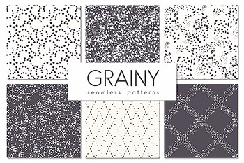 点状背景纹理 Grainy. Seamless Patterns Set