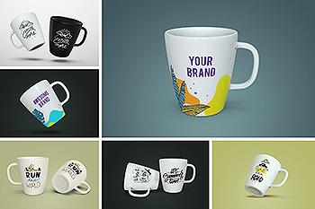 图案印花马克杯设计效果图样机v3 Mug Mockup 3.0