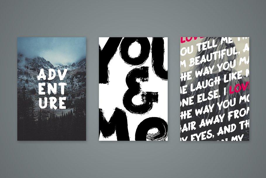 手写笔刷字体 Adrenaline Brush Typeface设计素材模板