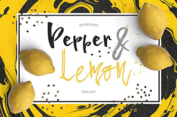 创意书法字体 Pepper & Lime – Font Duo