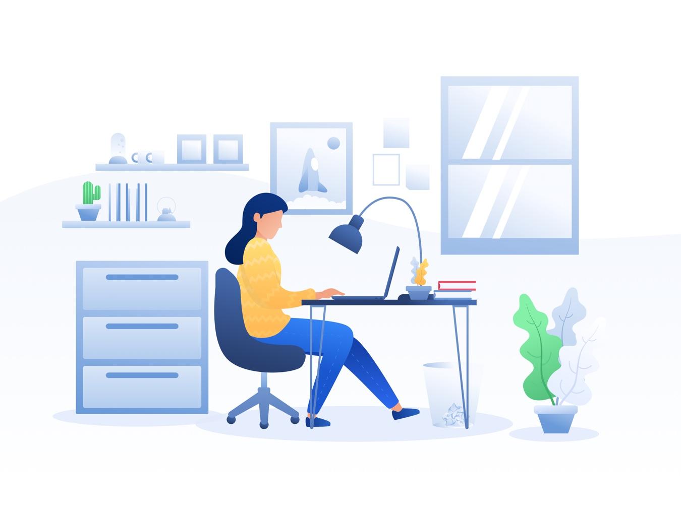 物联网智能智慧家庭场景插画创意素材下载[Sketch]设计素材模板