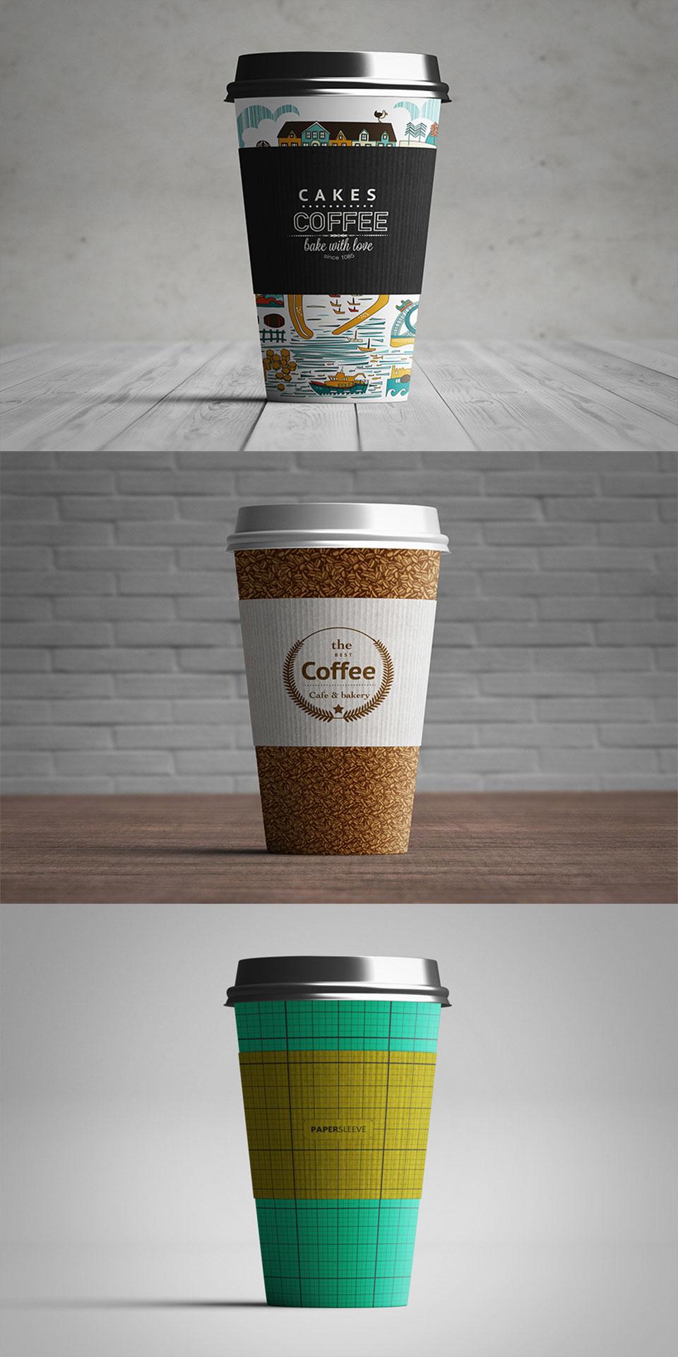精致漂亮的纸杯设计展示模型(Mockup)PSD下载设计素材模板