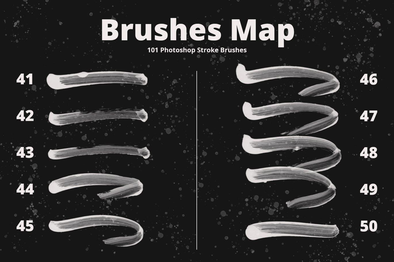 101个photoshop超级细致逼真手绘毛笔质感画笔大集合设计素材模板