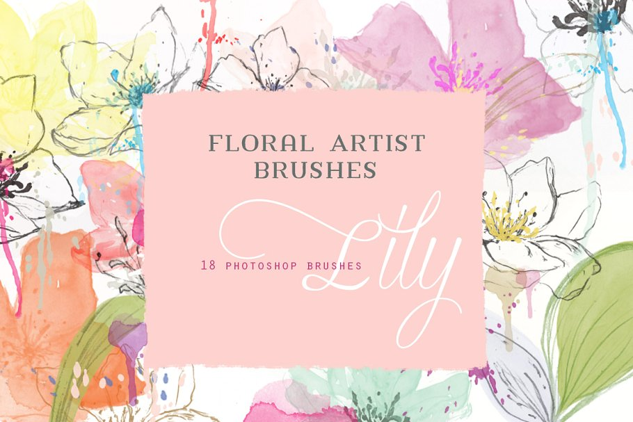 花卉PS笔刷 Floral Photoshop Brushes设计素材模板