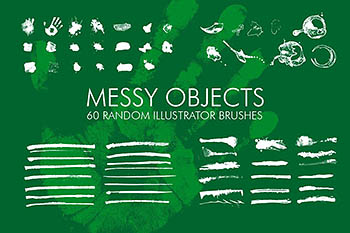 60个随机的Ai笔刷 60 Messy Illustrator Brushes