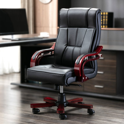 Boss chair leather cowhide computer chair home swivel chair executive chair reclining lift study chair office chair
