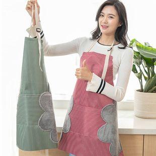 【毛巾围裙二合一】防水防油围裙