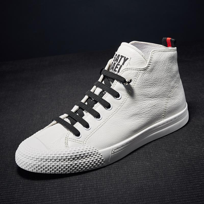 2017 новый зимний осенний обувь натуральная кожа высокий обувной мужчина обувь европейские станции мужская обувь обувь casual обувь новичок обувной волна