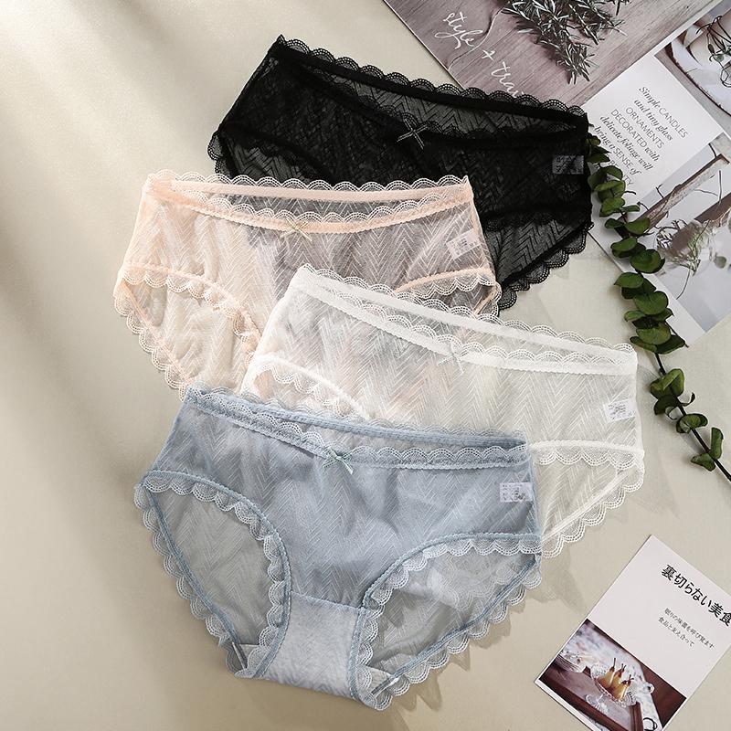 芬腾可安 低腰蕾丝性感透明网纱内裤*3条装 天猫优惠券折后¥39.9包邮(¥59.9-20)多套色可选