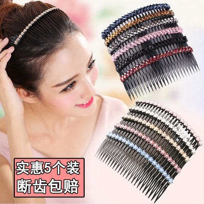 Korean hair comb, comb, bangs, clip, back of head, headwear, non-slip, one-word clip, top clip, hairpin, adult female