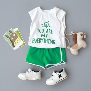2018新款0-4岁婴儿男女宝宝夏季套装