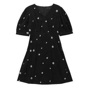 【双11预售】韩都衣舍IU同款2020秋新款法式赫本风泡泡袖连衣裙女