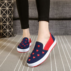 Spring and summer new Korean casual fashion ladies old Beijing cloth shoes women's shoes students single shoes canvas shoes a pedal