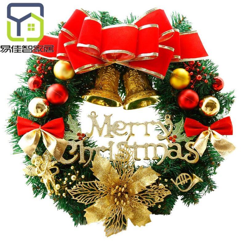 壁挂礼物花环圣诞节装饰品30cm圣诞家用餐厅套餐时尚装扮a壁挂挂饰