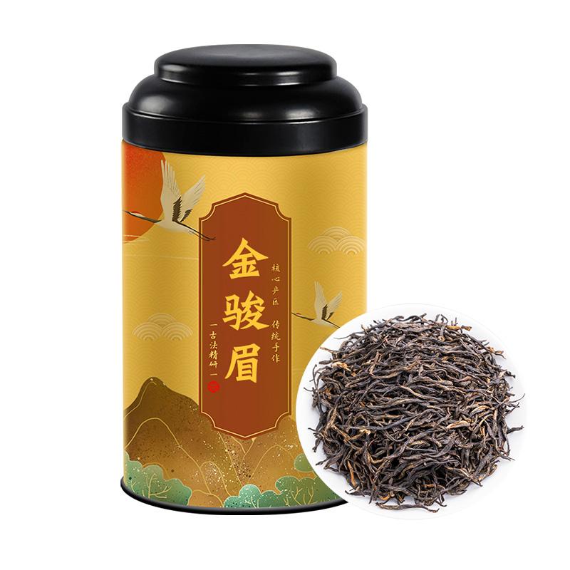 金骏眉红茶茶叶特级花果蜜香武夷山浓香型金俊眉2020新茶春茶罐装