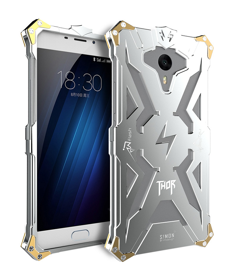 SIMON THOR Aviation Aluminum Alloy Shockproof Armor Metal Case Cover for MEIZU M3 Max