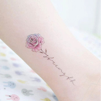 Rose Tattoo Sticker Female Simulated Clavicle Arm Original Hand