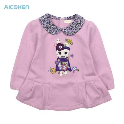 Love children's wear children's clothing children's hot sale cotton long-sleeved T-shirt baby shirt children t-shirt doll a price