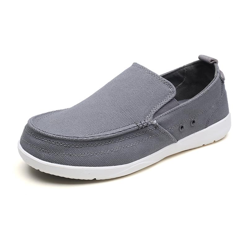 夏季老北京脚蹬一布鞋帆布鞋男v脚蹬透气懒人鞋cross沃尔卢布鞋男
