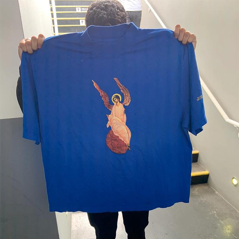 Kanye West Jesus là áo thun tay ngắn King Archangel Tee Angel ngoại vi - Áo phông ngắn