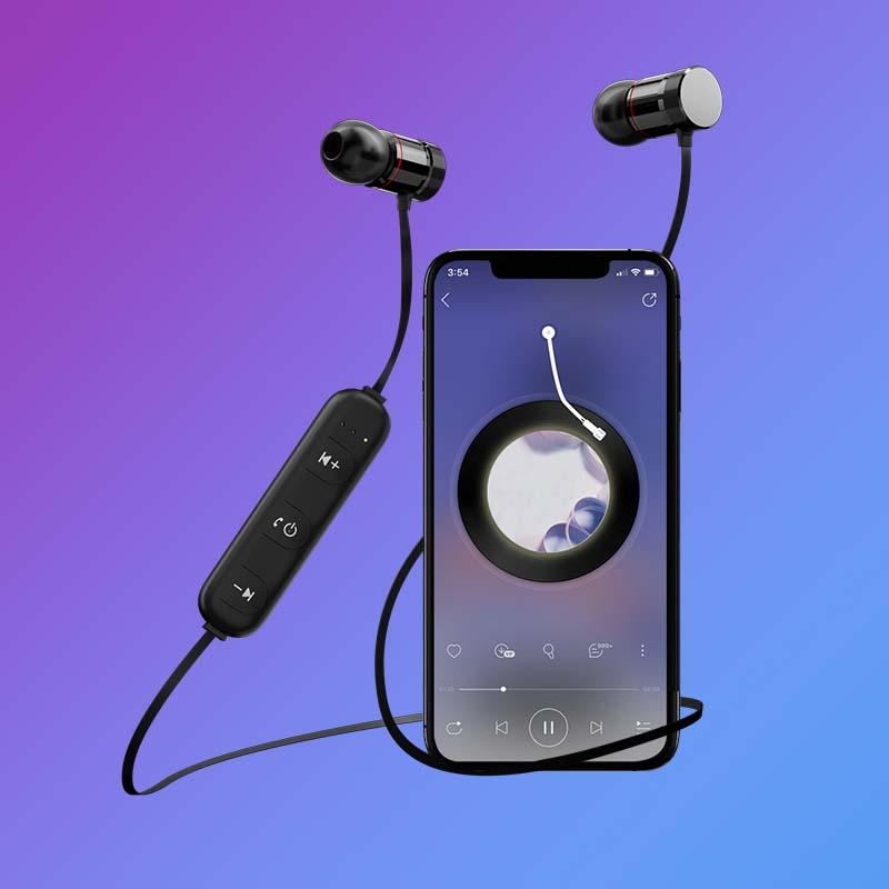 【南极人】挂脖式无线运动蓝牙耳机-秒客网